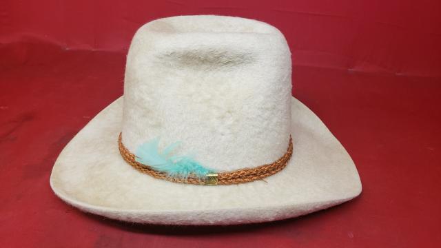 ... Stetson XXXXX White Beaver Felt Cowboy Hat - Vintage Western Wear ... edd23c1d0d04