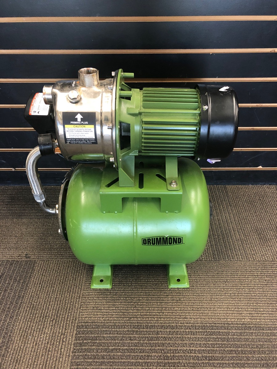 Drummond 63407 1hp Stainless Steel Shallow Well Pump For Parts Or Not Working