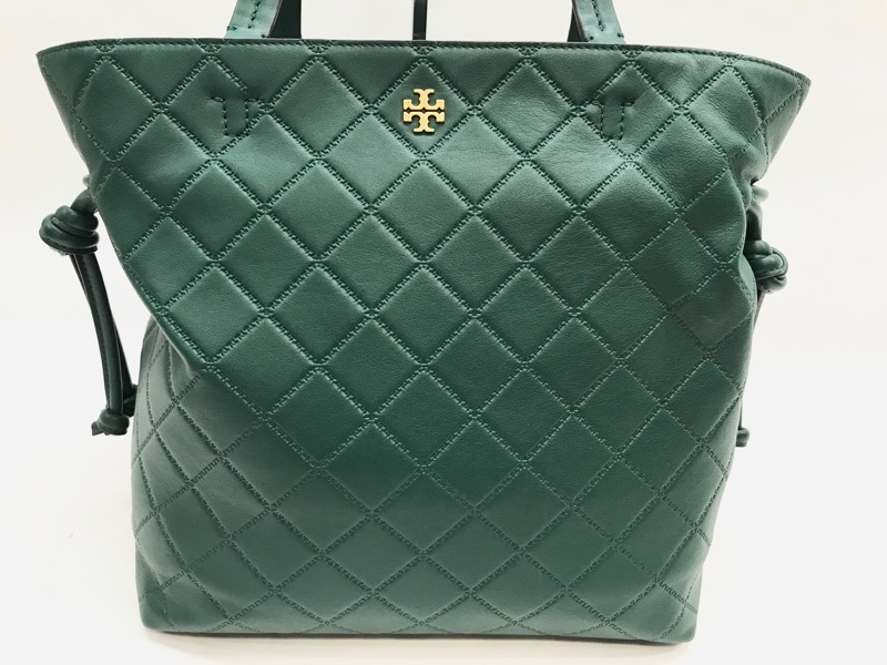 c2a9ba40c4b ... Tory Burch Georgia Slouchy Quilted Malachite Leather Tote w  Dust Bag  ...