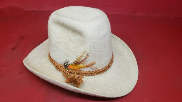 Stetson XXXXX White Beaver Felt Cowboy Hat - Vintage Western Wear ... 52b640ed1eb5