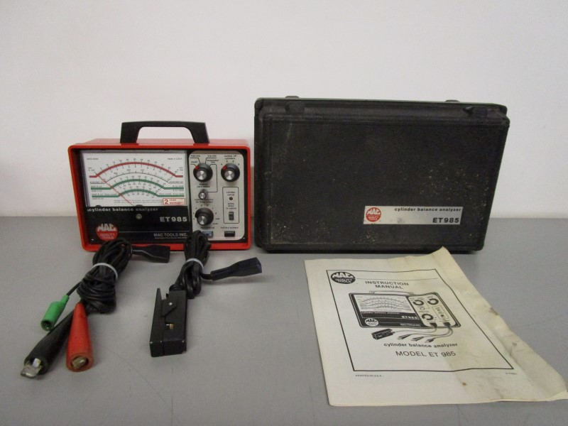 MAC TOOLS ET 985 CYLINDER BALANCE ANALYZER For parts or not working