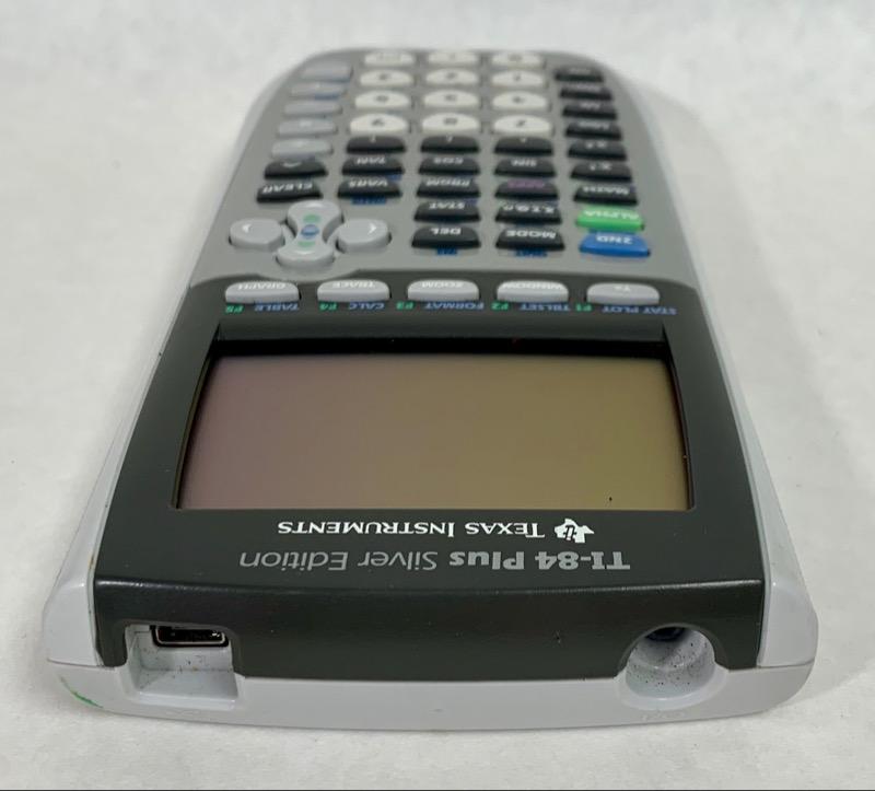 TEXAS INSTRUMENTS Calculator TI-84 PLUS SILVER EDITION Very