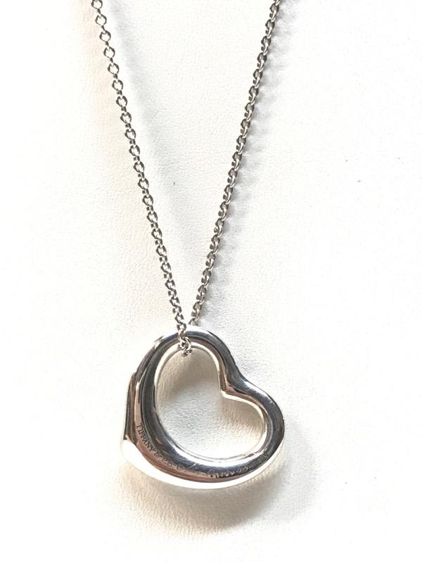 5c96ae66c ... TIFFANY & CO Fashion Accessory ELSA PERETTI OPEN HEART PENDANT NECKLACE