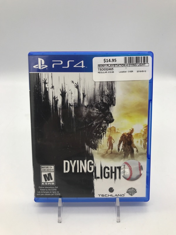 SONY DYING LIGHT - PS4 Good | TSR Digital Ltd  | Fredericton | NB