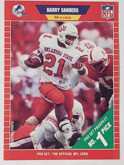 buy popular d30dd 2f7da 1989 Barry Sanders Detroit Lions NFL Pro Set #494 Football ...