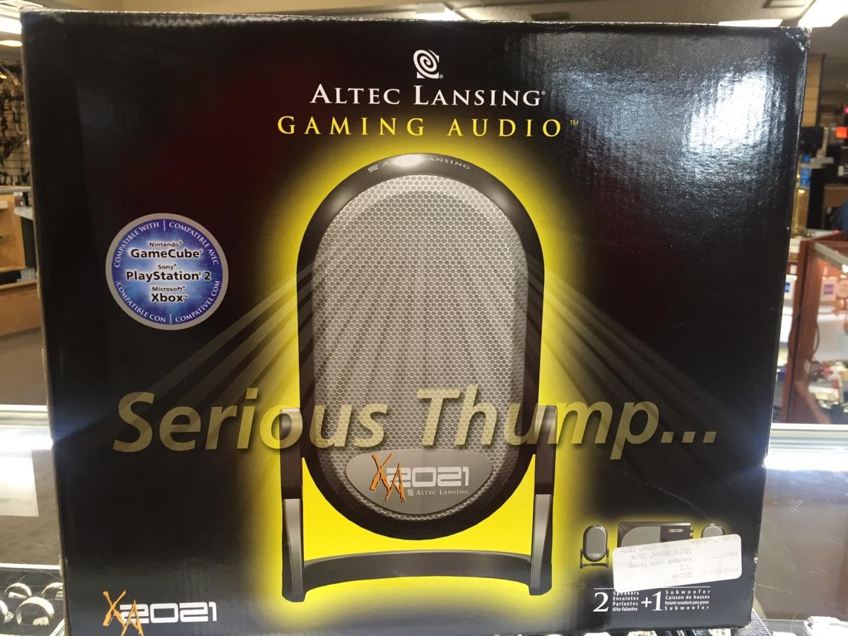 altec lansing xa2021 gaming audio speaker systemlike new