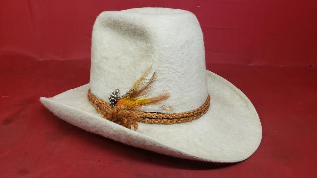 cee791bcaa82f ... Stetson XXXXX White Beaver Felt Cowboy Hat - Vintage Western Wear ...