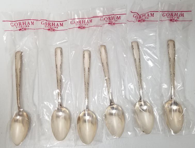 "5 7//8/"" Gorham Camellia Sterling Silver Teaspoon"