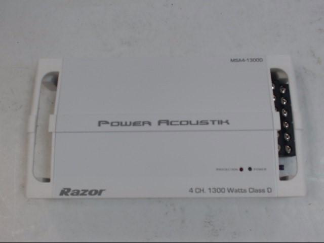 POWER ACOUSTIK Car Amplifier RAZOR MSA4-1300D Like New