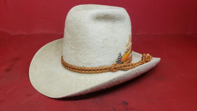 3df99c8bcd69f Stetson XXXXX White Beaver Felt Cowboy Hat - Vintage Western Wear ...