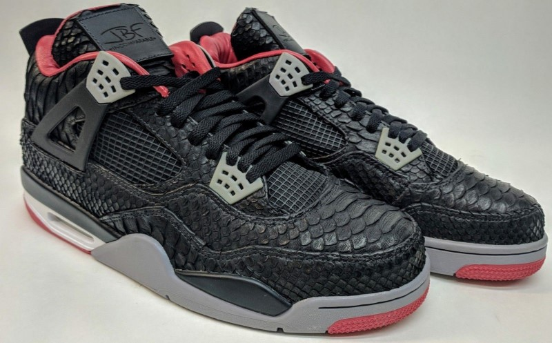 online store 535a2 2589b Size 14 JBF Customs Air Jordan IV Genuine Python Shoes  RARE   COLLECTOR